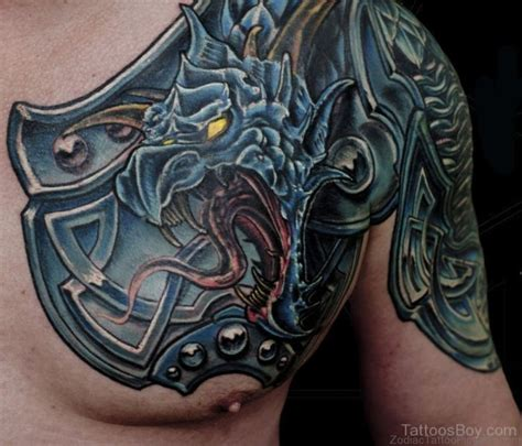 55 zodiac armour tattoos on chest