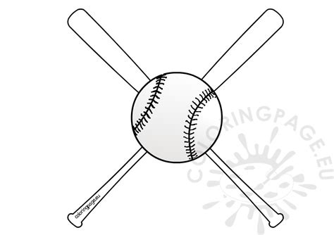 baseball bats and ball coloring sheets coloring page
