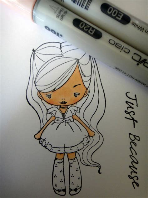Greeting Farm Blush Babette mad for markers tutorial tuesday colours