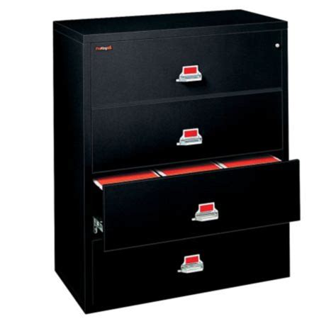 fireproof lateral file cabinet 4 drawers fireproof 4 drawer lateral file 44 quot w by fireking