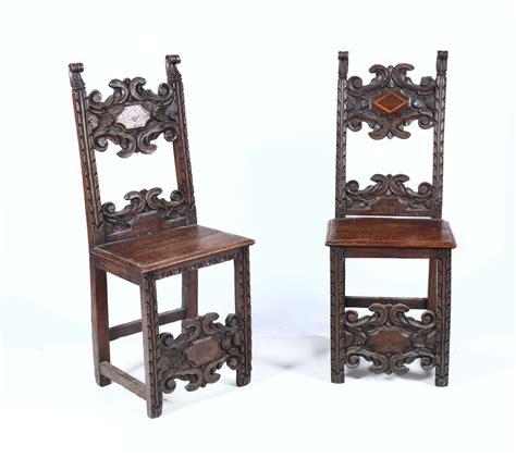 sedie antiche in legno coppia di sedie antiche in legno intagliato asta a tempo