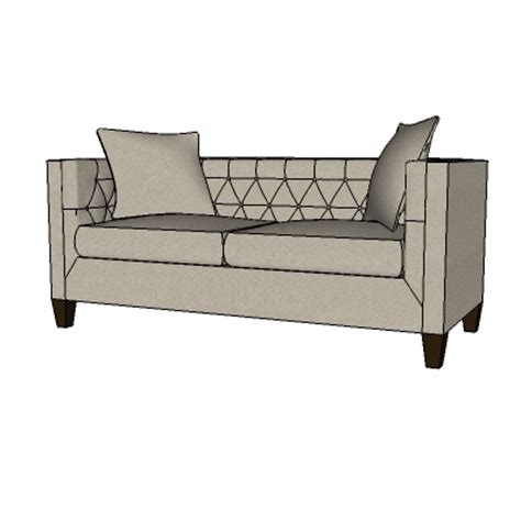 Lakewood Tufted Sofa 3d Model Formfonts 3d Models Textures Lakewood Tufted Sofa