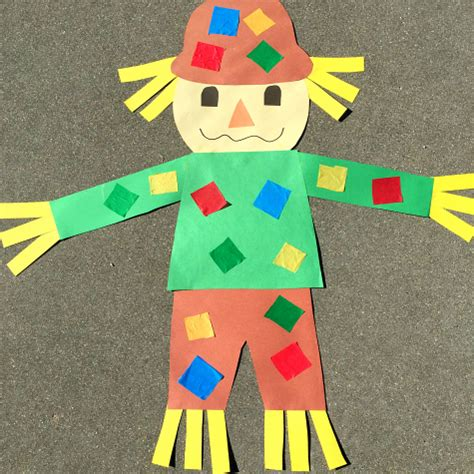 Paper Bag Scarecrow Craft For Preschoolers - scarecrow craft project for preschool and