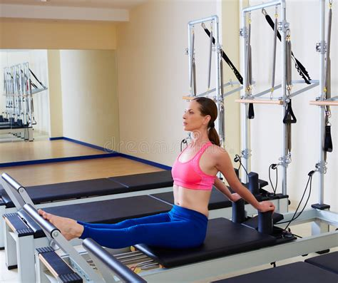 pilates reformer stomach flat stock photo image 58756606