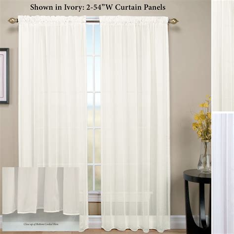 double rod pocket sheer curtains window treatments with sheer curtains curtain