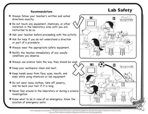 Science Lab Safety Worksheet by Science Printables And Worksheets Completely