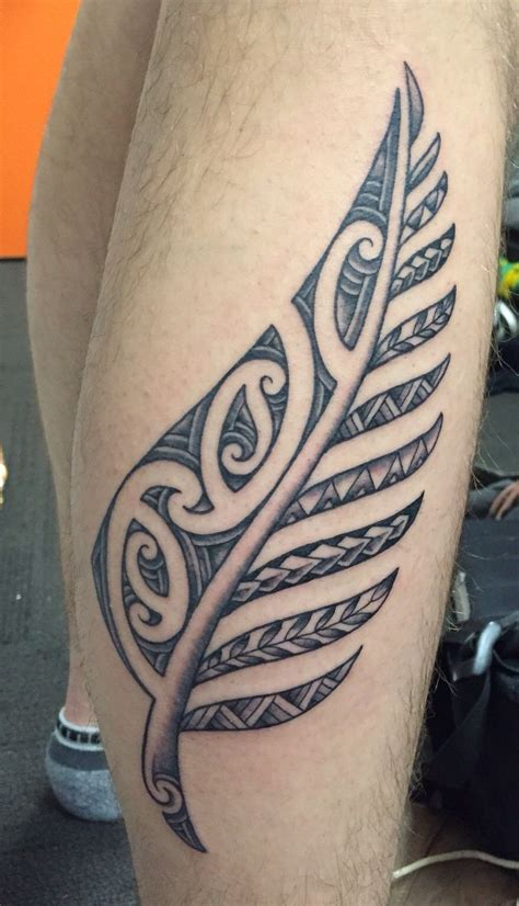 nz tattoos designs maori inspired silver fern tattoos fern