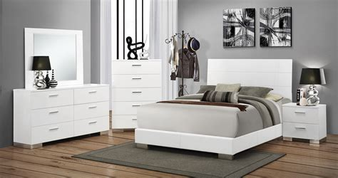 black and white bedroom set coaster felicity bedroom set white 203501 bed set at
