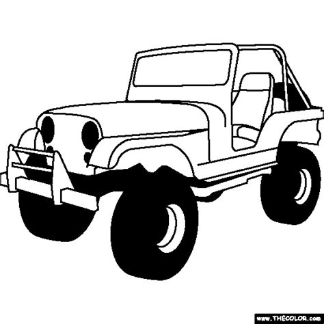 jeep rubicon coloring pages cars online coloring pages page 2