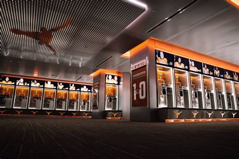 Football Locker Room by The Longhorns Officially Unveil Their New Locker Room
