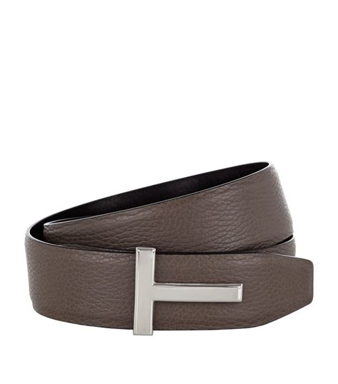 Tom Ford Belts by Tom Ford Belt Tom Ford Grain Leather T Belt In Brown For