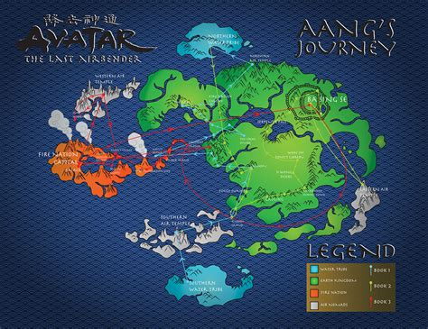avatar   airbender map  behance