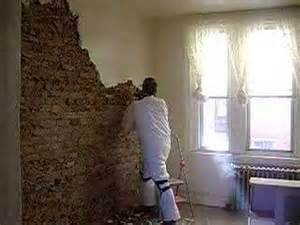 removing plaster and exposing brick in a south philly