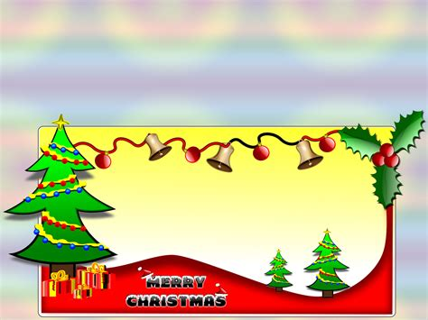 Merry Christmas Clipart Backgrounds Christmas Green Red Yellow Templates Free Ppt Merry Powerpoint Template