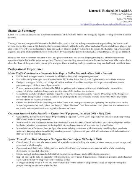 Coach K Resume by Rickard Resume