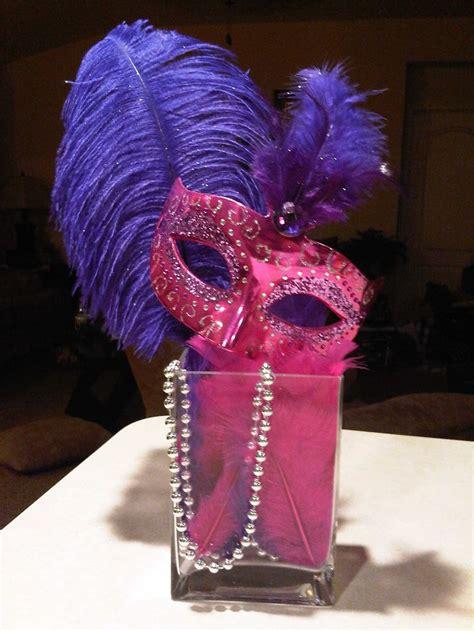 mask centerpiece sweet 16 ideas pinterest