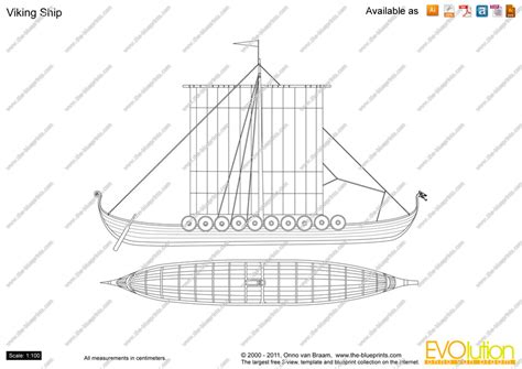 the blueprints com vector drawing viking ship
