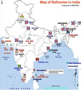 refineries map map refineries of india upsc appsc appsc material