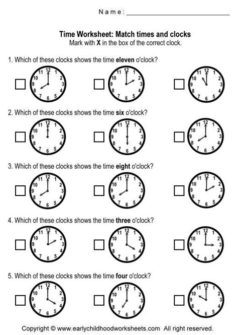 printable clock matching game best 25 clock worksheets ideas on pinterest telling