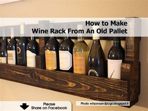 How To Make Wine Rack From An Old Pallet