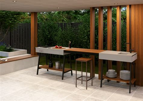 arbeitsplatte outdoor küche outdoor werkbank k 252 che