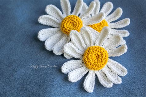 pattern crochet daisy free pattern daisy flower applique by happy patty crochet