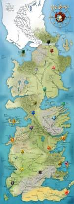 got map of thrones map general geekery