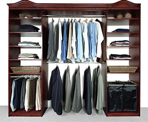 Cherry Wood Closet Organizer by Closet Systems Finished In Cherry Traditional Closet