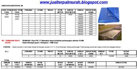 Harga Terpal Kolam 2 3 jual terpal murah daftar harga kolam terpal a8