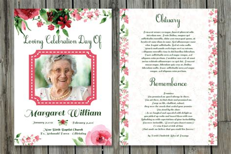 program card template 15 funeral card templates free psd ai eps format