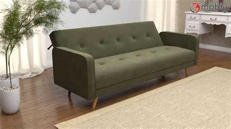 sofa moderno sof 225 cama moderno de veludo daru mobly youtube