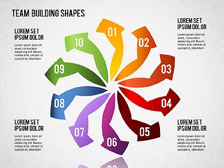 team building powerpoint presentation templates team building shapes for presentations in powerpoint and