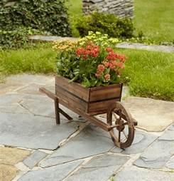 garden oasis wood wheelbarrow planter