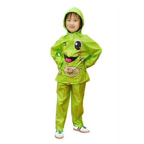 Jas Hujan Anak Lucu Hijau Pink Oranye Ungu jual jas hujan anak jaket celana indoplast kiddo grosir pakaian dalam