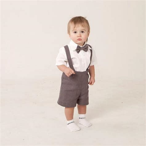 baby boy wedding attire boy linen suit ring bearer baby boy clothes set of