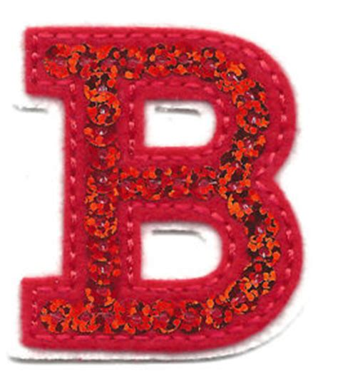 iron on embroidered letters letters sequin 2 quot letter quot b quot iron on embroidered 1338