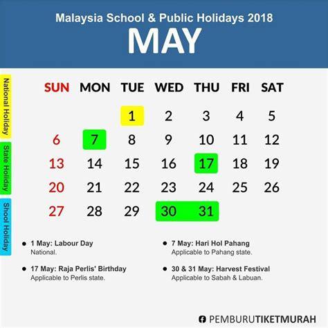 Kalendar 2018 Cuti Sekolah Cuti Sekolah 2018 Dan Cuti Umum 2018 Jelajah