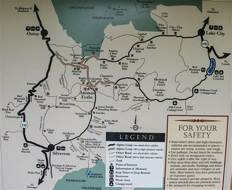 alpine loop colorado map byway 21 colorado scenic and historic byway tour by
