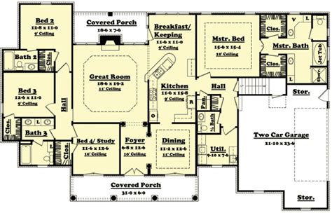 Four Bedroom House Plan by 4 Bedroom House Design