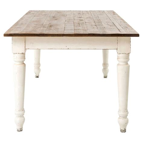 French country reclaimed pine whitewash farmhouse dining table kathy kuo home