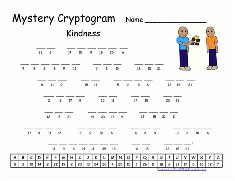 printable cryptoquote puzzle empowered by them kindness cryptogram