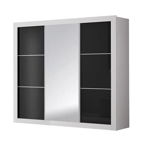 armoire design armoire design 3 portes coulissantes blanche et noire