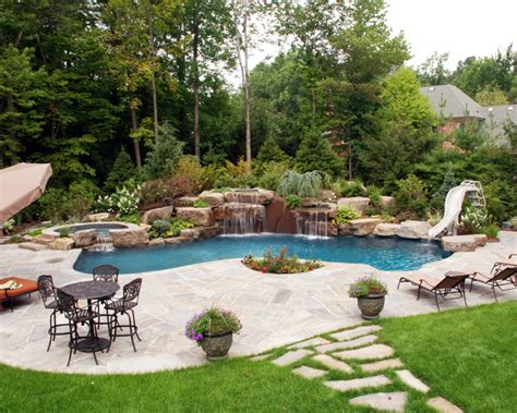 Backyard Pool And Patio Pool Designs Custom Swimming Pools Landscaping By Cipriano