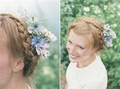Wedding Hair Braid With Flowers by Hair Flowers Archives The Wedding Company The