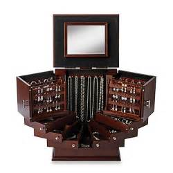 Bed Bath And Beyond Bathroom Decor Lori Greiner 174 Deluxe Wood Jewelry Organizer In Walnut