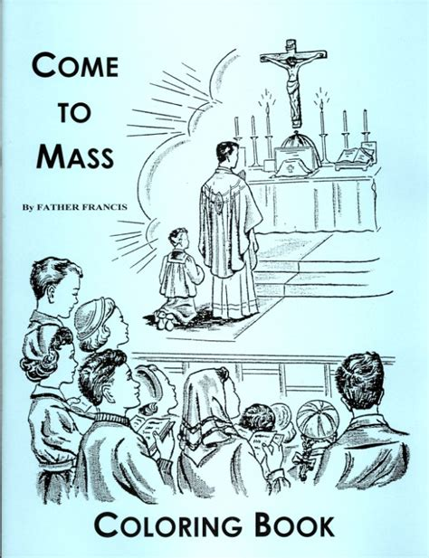 catholic church coloring page