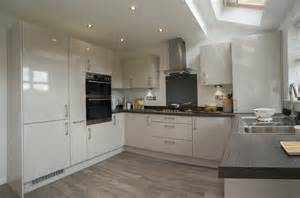 Quality One Cabinets Fairwood Kitchen Gloss Cashmere Panorama Kitchens