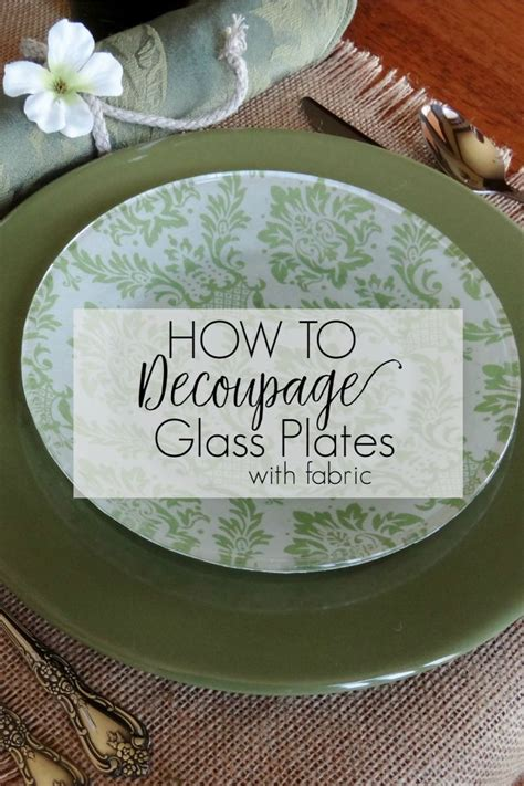 How To Decoupage Plates - best 25 decoupage glass ideas on decoupage