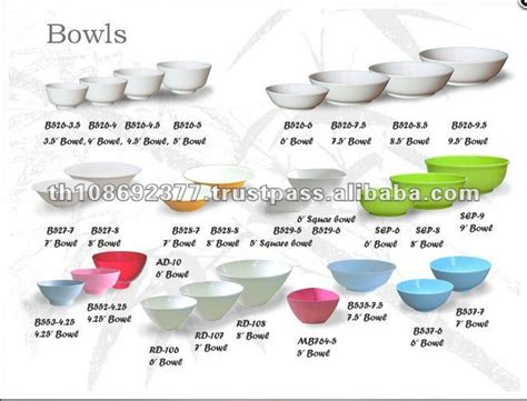 Variety Types And Szies Melamine Bowls   Buy Melamine