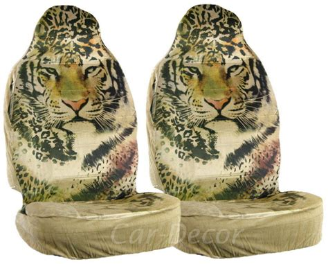 tiger seat covers for cars designer tiger car seat covers beige from car decor